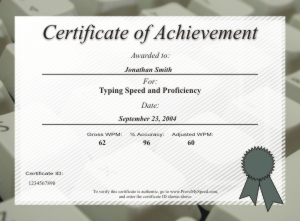 Where Can I Get A Typing Certificate Best Design Sertificate 2018